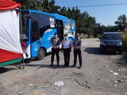 Lima Bus TMP Disiagakan di Posko PPKM
