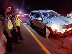 Perdana, Pajero Kecelakaan di Tol Permai