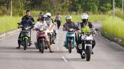 Polisi Tegur Anak Pesantren saat Razia Balap Liar