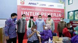 Tinjau Vaksinasi Gotong-royong PT RAPP, Ini Pesan Ketua MPR