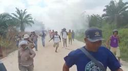 Eksekusi Lahan Sawit di Pelalawan Ricuh, Polisi dan Warga Terluka
