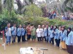 Tim Kukerta Unri 2019  Buka Lubuk Larangan di  Desa Batu Langkah Besar