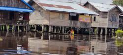 Di Pelalawan Banjir Rendam Beberapa Desa, Akses Jalan Terputus Total