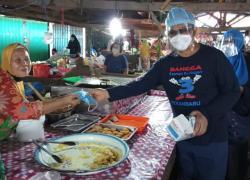 Alumni SMPN 3 Pekanbaru Taja Gerakan Memakai Masker
