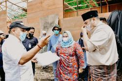 Bupati Awasi Pembangunan Kantor Camat Talang Muandau