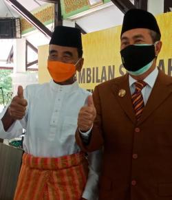Mantan Gubernur Riau Annas Maamun Hadiri Pelantikan Bupati Inhu