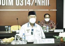 Wabup Rapat Virtual Bersama Panglima TNI