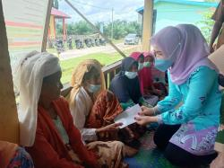 Kreatif, Istri Bupati Kuansing Apresiasi Karang Taruna Ujung Tanjung Siberakun