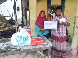 YBM PLN Salurkan Bantuan untuk Korban Kebakaran di Rimbo Panjang
