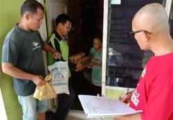 Lagi, Posko Siaga Tamarin Bagikan Paket Bansos dari Warga dan Pemko