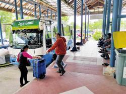 Terminal BRPS Sepi, Bandara SSK II Normal