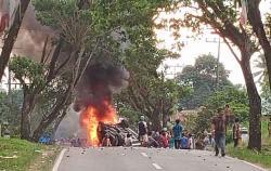Demo BLT Rusuh di Mandailing Natal, 6 Polisi Terluka