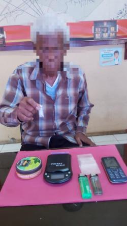 Timbang Sabu, Kakek Usia 66 Tahun di Inhil Dibekuk Polisi