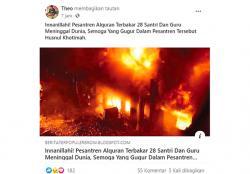 Salah, Foto tentang Kebakaran Pesantren