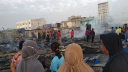 Di Rengat, 10 Kios dan Lima Rumah Warga Ludes Terbakar