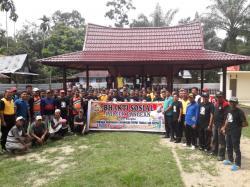 Polsek Pangean Pelopori Gerakkan Kampung Bersih