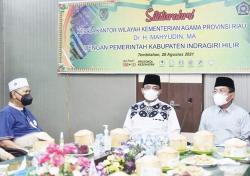 Bupati Inhil Bersilaturahmi dengan Kakanwil Kemenag Riau