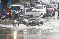 Diguyur Hujan, Ruas Jalan Terendam Banjir