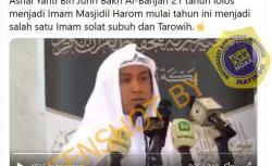 (Hoaks) Seorang WNI Jadi Imam Masjidilharam Makkah