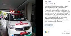 Viral Ambulans Dihalangi Mobil Kijang, Akibatnya Pasien Meninggal