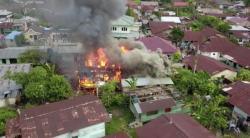 Api Berkobar, Rumah di Jalan Nelayan Ludes Terbakar