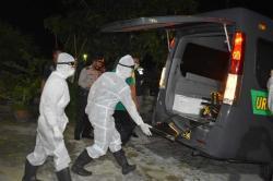 Kapolres Inhu Evakuasi Pasien Positif Covid-19