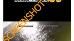 (Hoaks) Video Jatuhnya Pesawat Sriwijaya Air SJ 182
