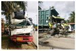 Truk Box vs Dump Truk di Tandun, 4 Korban Luka Ringan dan Patah Tulang