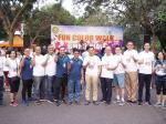 Pegawai Perbankan Berbaur di Color Fun Walk BMPD Riau