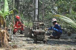 Galian Sumut Bor Keluarkan Gas