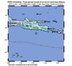 Gempabumi Tektonik M6,7 Guncang Jawa Timur, Tidak Berpotensi Tsunami