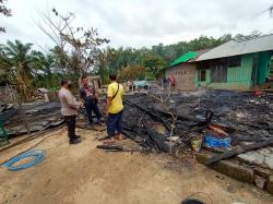 Tiga Unit Rumah Ludes Terbakar, Satu Warga Sungai Lala Terpanggang