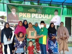 PKB Kuansing Salurkan Ratusan Sembako untuk Warga