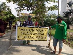 Warga Desa Buluhcina Lakukan ''Lockdown'' bagi Pendatang