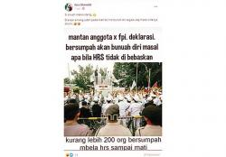 Mantan Anggota FPI Ancam Bunuh Diri?