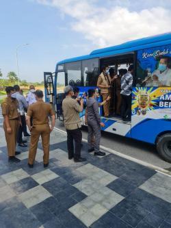 Bus Vaksin Keliling Stop Berikan Layanan