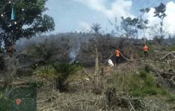 Lahan Perbukitan di Merangin Terbakar, 44 Kali Bom Air Dijatuhkan