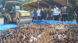 BC Dumai Musnahkan Barang Sitaan Senilai Rp5,4 M