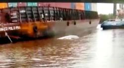 Kapal Sekoci Polair Terbalik di Sungai Apit, Satu Personel Hilang