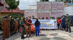 Program Bukaka Bermasyarakat, Warga Sebangar Dibantu Sembako