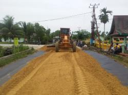 Pembangunan Empat Jalan Poros di Meranti Sesuai Progres