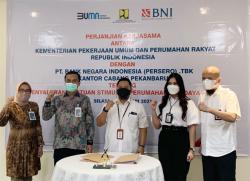 BNI Kerjasama dengan Balai Pelaksana Penyedian Perumahan Sumatera III