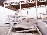 Dermaga Desa Kudap Rusak Ditabrak Perahu Tak Dikenal
