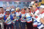 Kadispora Pimpin Kontingen Riau di Pembukaan Popnas XV