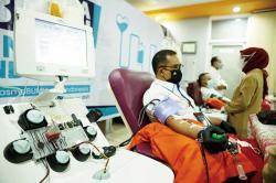 Satgas BUMN Riau Turut Donor Plasma Konvalesen Nasional