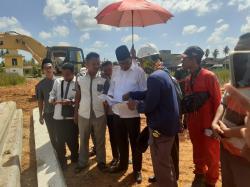 Bupati Tinjau Pemancangan Pondasi Masjid Laksamana M Cheng Ho