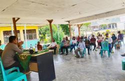 Polsek Ukui Sosialisasi Adaptasi Kebiasaan Baru Protokol Kesehatan