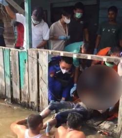 Warga Jalan Siak Heboh, Ada Mayat Mengapung di Anak Sungai Dumai