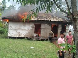 Pelaku Pembakar Rumah di Inhil Ikut Terbakar