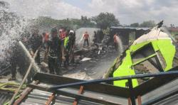 Empat Bangunan Rumah di Tembilahan Hulu Ludes Terbakar